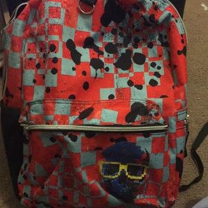 CHECKERED StarPoint Splattered BookBag